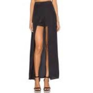Ella Moss Extreme Lengths Maxi Skirt with Shorts